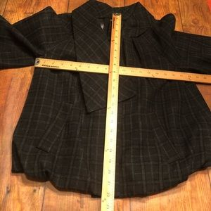 MINT Jodi Arnold Jackets & Coats - MINT Collection~Plaid Bubble Hem Cropped Jacket~0